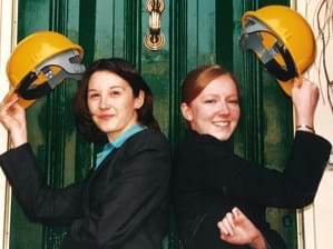 Hats off to new recruits Ingrid and Hannah in 2001