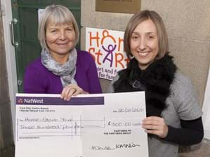 Charity begins at Home-Start - our donation supported this excellent charity in 2011