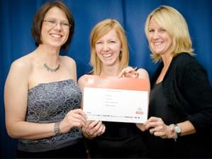 Monica, Hannah and Alyson accept The Drum Award in 2011