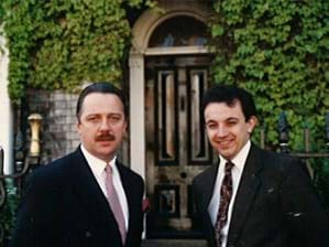 Founders Hugh Venables and Andy Atkins moving to 105 The Mount in 1993
