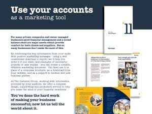 Use your accounts as a marketing tool