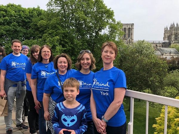 The Partners team join the York Walls Walk for York Mind