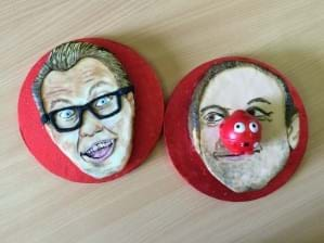 The perfect partnership – Vic and Bob face cakes for Comic Relief